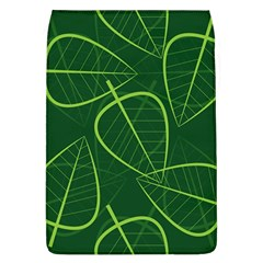 Vector Seamless Green Leaf Pattern Flap Covers (L)