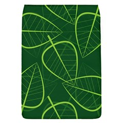Vector Seamless Green Leaf Pattern Flap Covers (s)