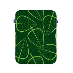 Vector Seamless Green Leaf Pattern Apple iPad 2/3/4 Protective Soft Cases