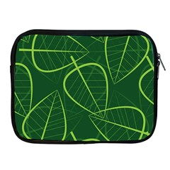 Vector Seamless Green Leaf Pattern Apple Ipad 2/3/4 Zipper Cases