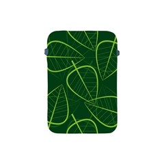 Vector Seamless Green Leaf Pattern Apple iPad Mini Protective Soft Cases