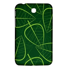 Vector Seamless Green Leaf Pattern Samsung Galaxy Tab 3 (7 ) P3200 Hardshell Case