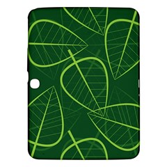 Vector Seamless Green Leaf Pattern Samsung Galaxy Tab 3 (10.1 ) P5200 Hardshell Case