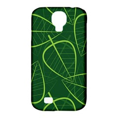 Vector Seamless Green Leaf Pattern Samsung Galaxy S4 Classic Hardshell Case (PC+Silicone)