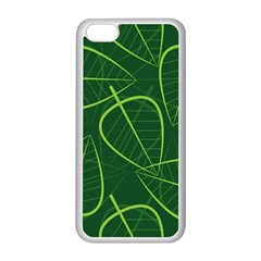 Vector Seamless Green Leaf Pattern Apple iPhone 5C Seamless Case (White)