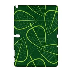 Vector Seamless Green Leaf Pattern Galaxy Note 1