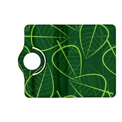 Vector Seamless Green Leaf Pattern Kindle Fire Hd (2013) Flip 360 Case