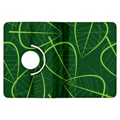 Vector Seamless Green Leaf Pattern Kindle Fire Hdx Flip 360 Case