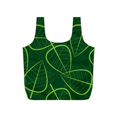 Vector Seamless Green Leaf Pattern Full Print Recycle Bags (s)