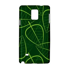 Vector Seamless Green Leaf Pattern Samsung Galaxy Note 4 Hardshell Case