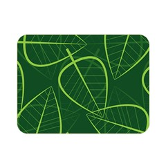 Vector Seamless Green Leaf Pattern Double Sided Flano Blanket (mini)