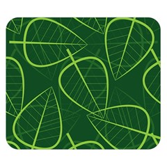 Vector Seamless Green Leaf Pattern Double Sided Flano Blanket (Small)