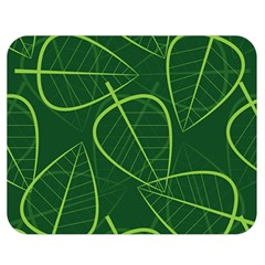Vector Seamless Green Leaf Pattern Double Sided Flano Blanket (Medium)