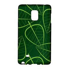 Vector Seamless Green Leaf Pattern Galaxy Note Edge