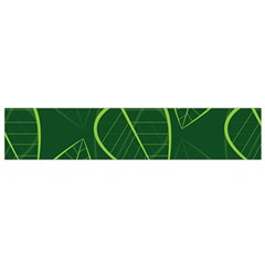 Vector Seamless Green Leaf Pattern Flano Scarf (small)