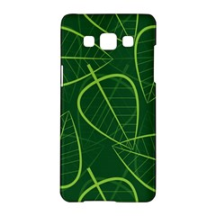 Vector Seamless Green Leaf Pattern Samsung Galaxy A5 Hardshell Case