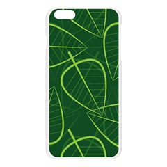 Vector Seamless Green Leaf Pattern Apple Seamless iPhone 6 Plus/6S Plus Case (Transparent)