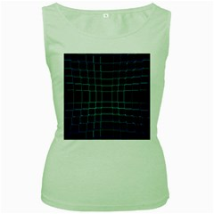 Abstract Adobe Photoshop Background Beautiful Women s Green Tank Top