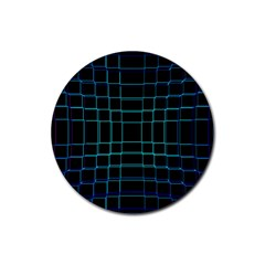 Abstract Adobe Photoshop Background Beautiful Rubber Coaster (round)