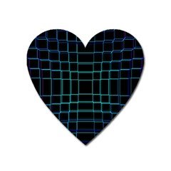 Abstract Adobe Photoshop Background Beautiful Heart Magnet