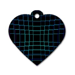 Abstract Adobe Photoshop Background Beautiful Dog Tag Heart (one Side)