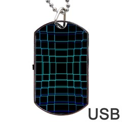 Abstract Adobe Photoshop Background Beautiful Dog Tag USB Flash (Two Sides)
