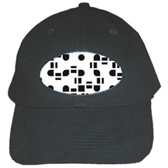 Black And White Pattern Black Cap
