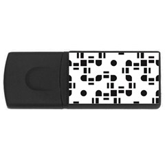 Black And White Pattern USB Flash Drive Rectangular (2 GB)