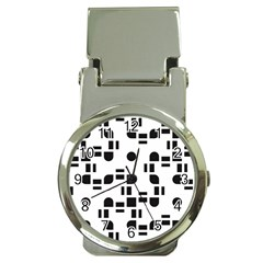 Black And White Pattern Money Clip Watches
