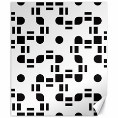 Black And White Pattern Canvas 8  x 10