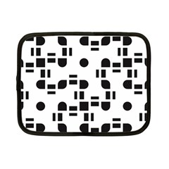 Black And White Pattern Netbook Case (small)
