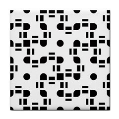 Black And White Pattern Face Towel