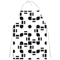 Black And White Pattern Full Print Aprons