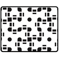 Black And White Pattern Fleece Blanket (medium)