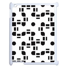 Black And White Pattern Apple iPad 2 Case (White)