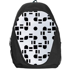 Black And White Pattern Backpack Bag