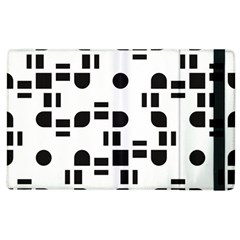 Black And White Pattern Apple iPad 3/4 Flip Case
