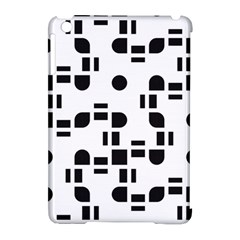 Black And White Pattern Apple iPad Mini Hardshell Case (Compatible with Smart Cover)