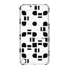 Black And White Pattern Apple Ipod Touch 5 Hardshell Case With Stand