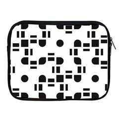 Black And White Pattern Apple Ipad 2/3/4 Zipper Cases