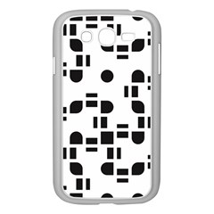 Black And White Pattern Samsung Galaxy Grand Duos I9082 Case (white)