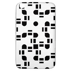 Black And White Pattern Samsung Galaxy Tab 3 (8 ) T3100 Hardshell Case