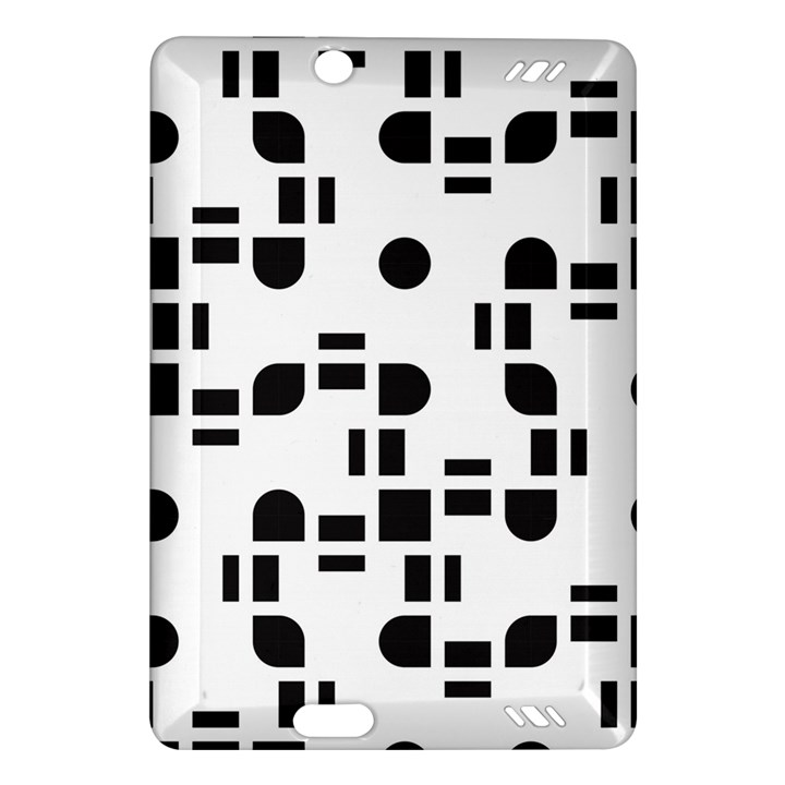 Black And White Pattern Amazon Kindle Fire HD (2013) Hardshell Case