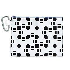 Black And White Pattern Canvas Cosmetic Bag (xl)