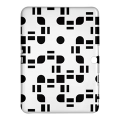 Black And White Pattern Samsung Galaxy Tab 4 (10 1 ) Hardshell Case