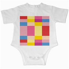 Colorful Squares Background Infant Creepers