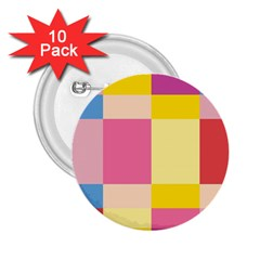 Colorful Squares Background 2.25  Buttons (10 pack)
