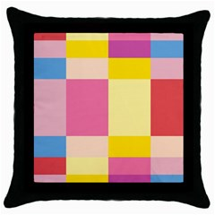 Colorful Squares Background Throw Pillow Case (black)
