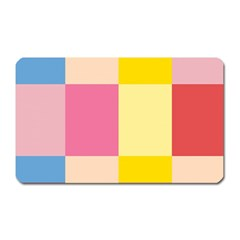 Colorful Squares Background Magnet (Rectangular)