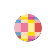 Colorful Squares Background Golf Ball Marker